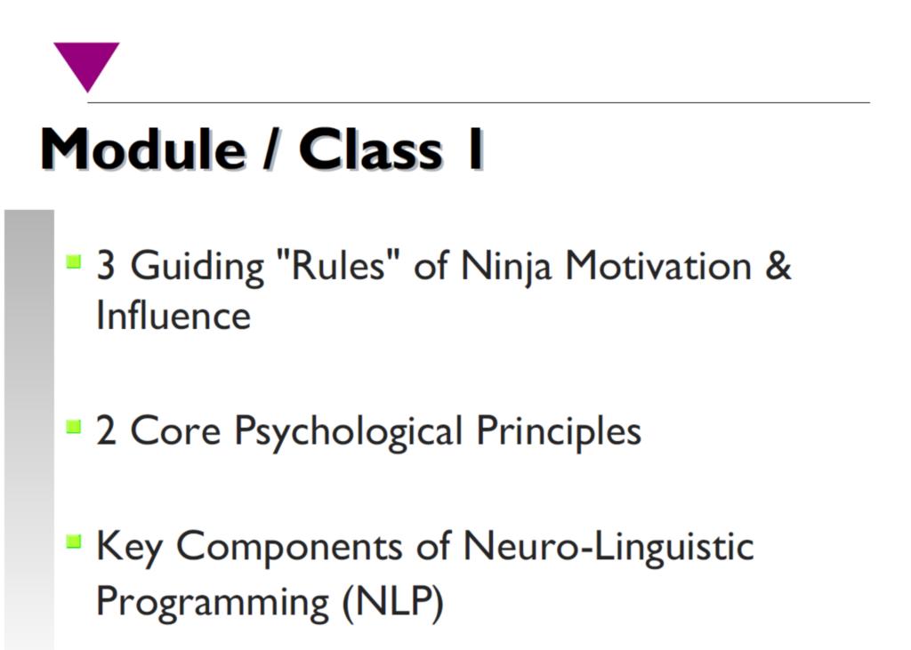 Motivation & Influence Training Program